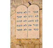 The Ten Commandments in Hebrew.  Photographic Print