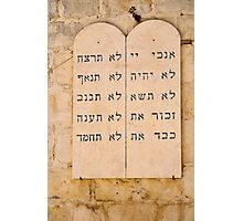 The Ten Commandments in Hebrew.  Photographic Print