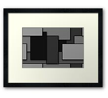 Blocks (Grey) Framed Print