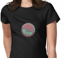 Toilet theme... Womens Fitted T-Shirt