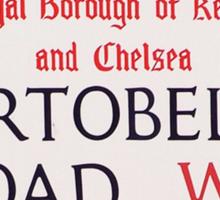 Portobello Road Sticker