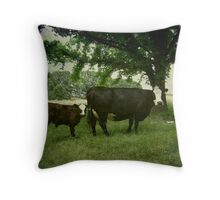 Calving Season Throw Pillow