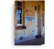 Commandant's Quarters - Fort Scratchley Circa 1886 - Newcastle NSW Canvas Print