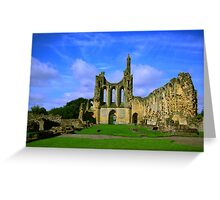 Byland Abbey  North Yorkshire Greeting Card