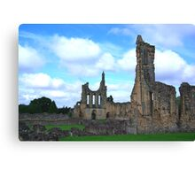 Byland Abbey -4 Canvas Print