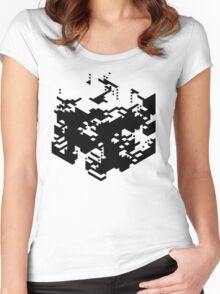 Isometric Decay Women's Fitted Scoop T-Shirt