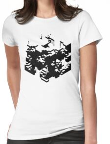 Isometric Decay Womens Fitted T-Shirt