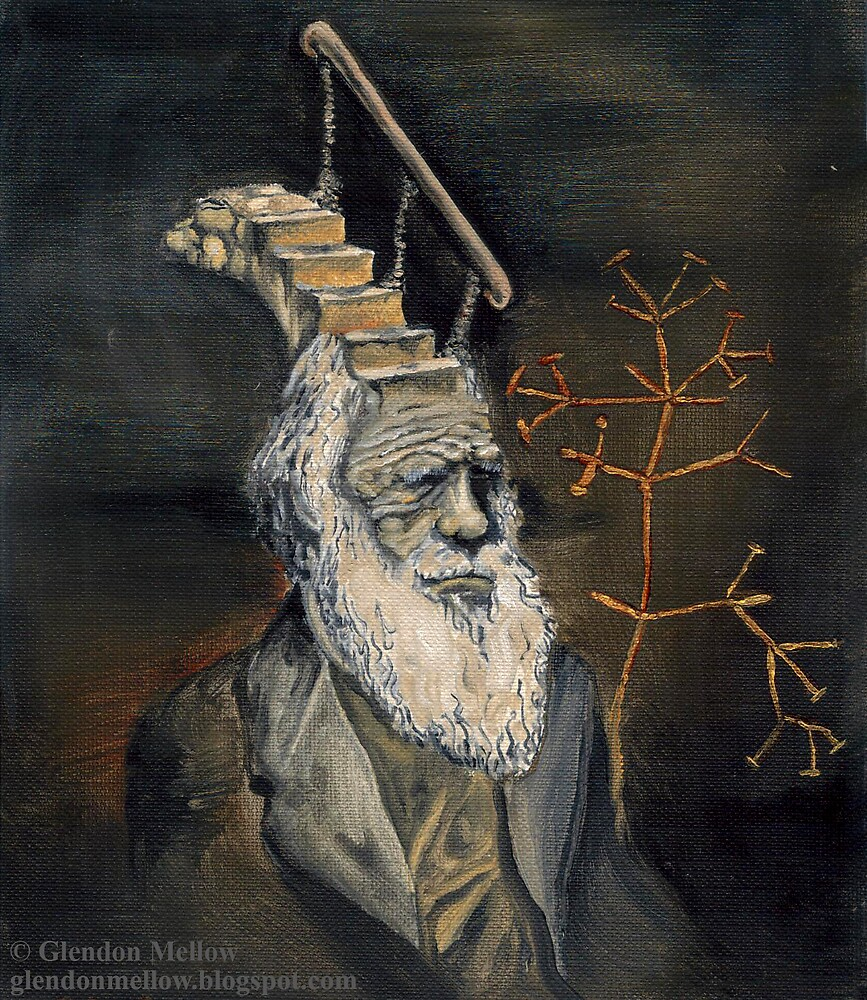 Darwin Took Steps (no text) by Glendon Mellow