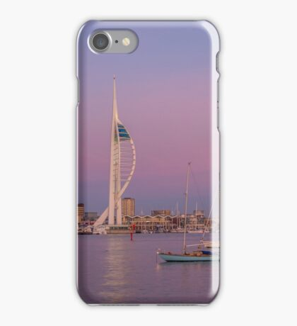 Spinnaker Tower and a pink sky iPhone Case/Skin