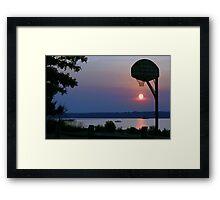 Slam Dunk Sunset Framed Print