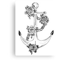 Anchor and Rose Canvas Print
