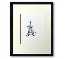 Eiffel Tower Pen Sketch Framed Print