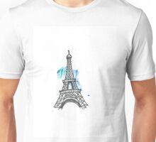 Eiffel Tower Pen Sketch Unisex T-Shirt