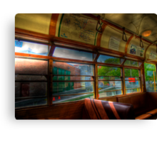 Old Strathcona Trolley Canvas Print