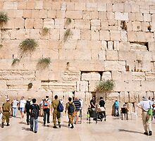 The wailing wall, Old City, Jerusalem, Israel by PhotoStock-Isra