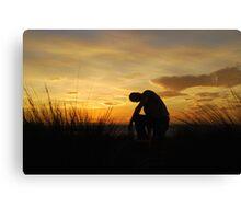 Silhouette Man Canvas Print