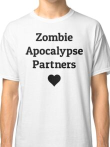 zombie apocalypse partners heart Classic T-Shirt