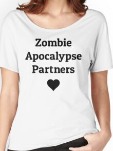 zombie apocalypse partners heart Women's Relaxed Fit T-Shirt
