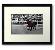 The rodeo- select color Framed Print