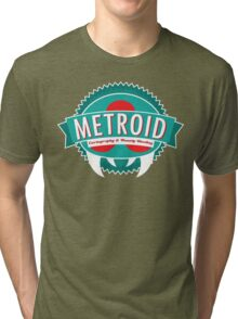 Metroid Cartography and Bounty Hunting Tri-blend T-Shirt
