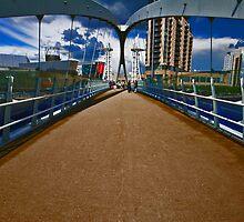 SALFORD QUAYS MILLENNIUM LIFT BRIDGE by MIKESCOTT