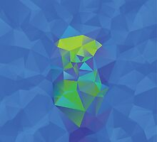 Abstract Blue Geometric Background by AnnArtshock