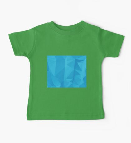 Abstract Blue Geometric Background 2 Baby Tee