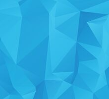 Abstract Blue Geometric Background 2 by AnnArtshock