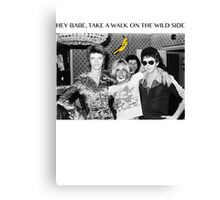 - DAVID - IGGY - LOU - HEROIN - Canvas Print