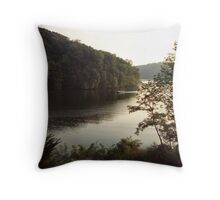 Boating onCheat Lake Throw Pillow