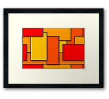 Blocks (RedOrange) Framed Print