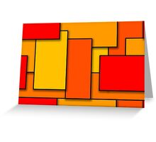 Blocks (RedOrange) Greeting Card