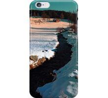 Black stream in winter wonderland | landscape photography iPhone Case/Skin