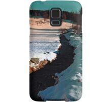 Black stream in winter wonderland | landscape photography Samsung Galaxy Case/Skin