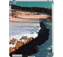 Black stream in winter wonderland | landscape photography iPad Case/Skin