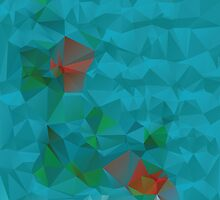 Abstract Blue Geometric Background 3 by AnnArtshock