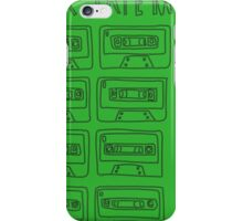 Mix Tape Green and Black Design iPhone Case/Skin