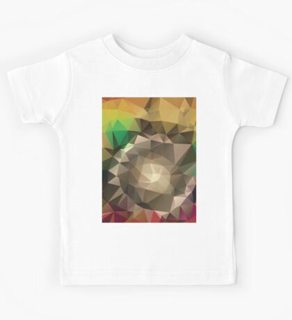 Abstract Colorful Geometric Background Kids Tee