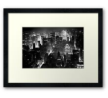 Sleepless In Manhattan Framed Print