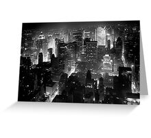 Sleepless In Manhattan Greeting Card
