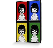 Colorblock Tina Greeting Card