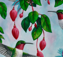 Hummingbird Heaven Pink Sticker