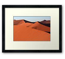 Shapes In The Desert Framed Print
