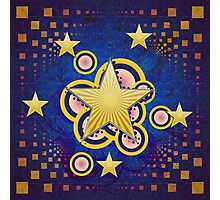 Colorful background with stars Photographic Print