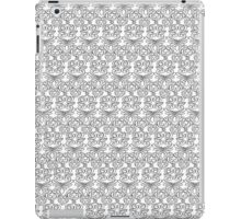 Black and White Floral Pattern iPad Case/Skin