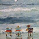 beach friends by Susan Brown