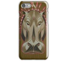 serious hippo iPhone Case/Skin