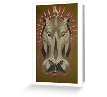 serious hippo Greeting Card