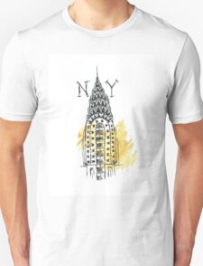 Chrysler Building New York Sketch Unisex T-Shirt