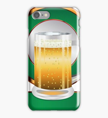 Glass of beer iPhone Case/Skin